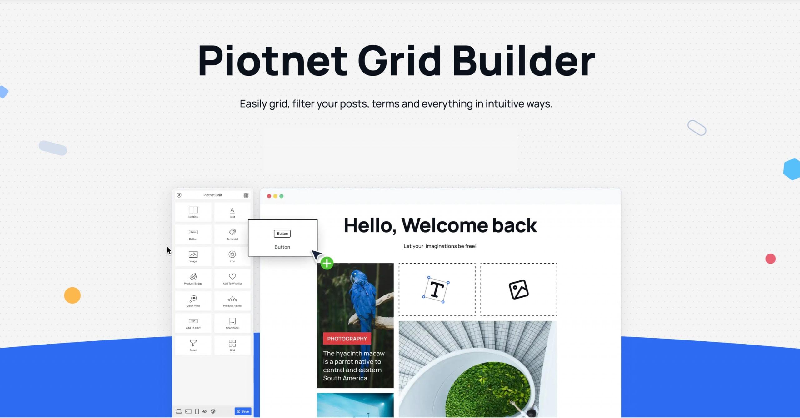 Screenshot of the Piotnet Grid website - October 2021